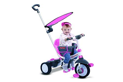 Fisher-Price FP3250233 - Triciclo Charm Plus 3 in 1 con Maniglione, Rosa