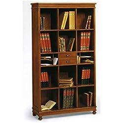 Bücherregal Holz Antik cm 100x36, h 180 - Italienischer Produktion