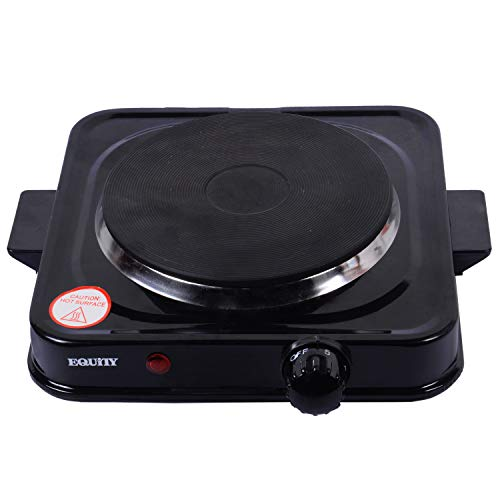 Equity Nonstick Hot Plate (Black,10 inch)