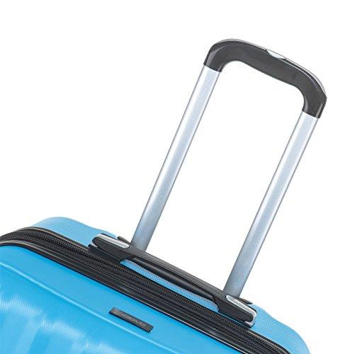 TSA-Schloß 2080 Hangepäck Zwillingsrollen neu Reisekoffer Koffer Trolley Hartschale XL-L-M(Boardcase) in 12 Farben (Türkis, Set) - 6