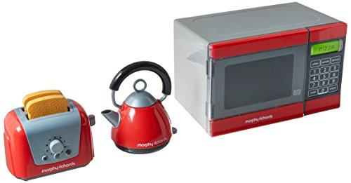Casdon PLC Morphy Richards, microonde, bollitore e tostapane Giocattolo (Rosso/Grigio)