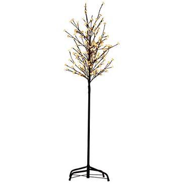 HENGMEI Arbre Lumineux Artificiel Fleurs de Cerisier Éclairage Blanc Chaud pour Noël, la Maison, Vacances, Nouvel an