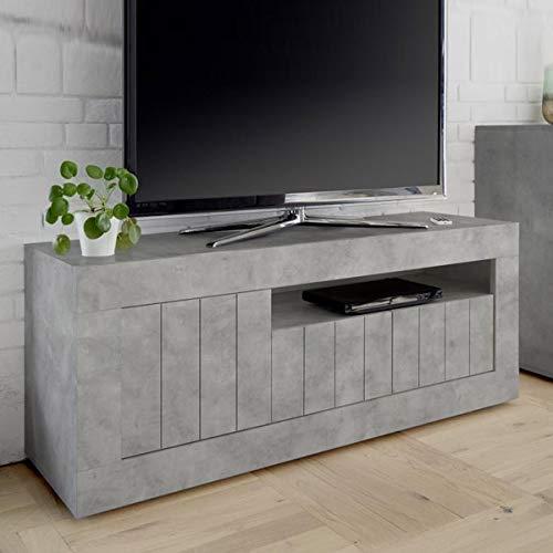 Mobile TV 140cm Grigio Cemento Moderno, 3Porte Urban 2