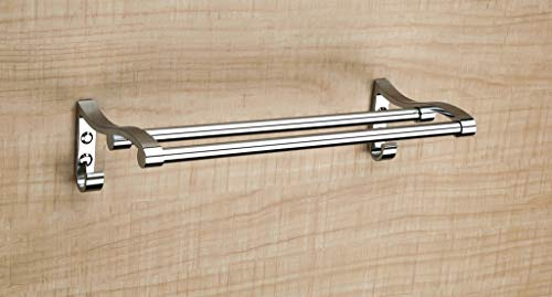 FORTUNE 18 INCH Stainless Steel Towel Rack Cum Towel Bar | Bathroom Towel Rod Holder | Wall Mounted Hand Towel Rail for Kitchen and Washroom | Towel Hanger | Towel Stand | Towel Holder