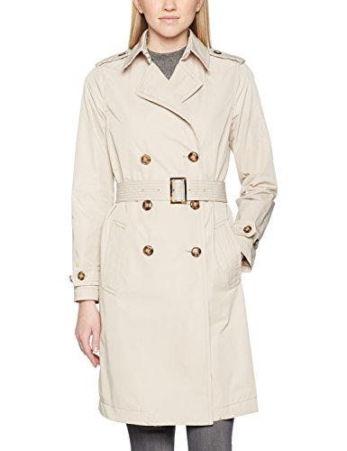 United Colors of Benetton Trench Coat with Belt Giubbotto, Beige, 10 (Taglia Produttore: 42) Donna