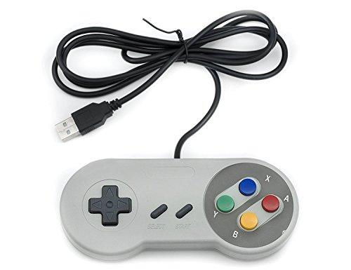 41bmiG9mdDL - QUMOX 2 x Nintendo Juego de PC Gamepad Controlador SFC Mando de Juego para Super Famicom Windows PC USB