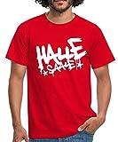 Halle Saale Graffiti Style Männer T-Shirt, L, Rot