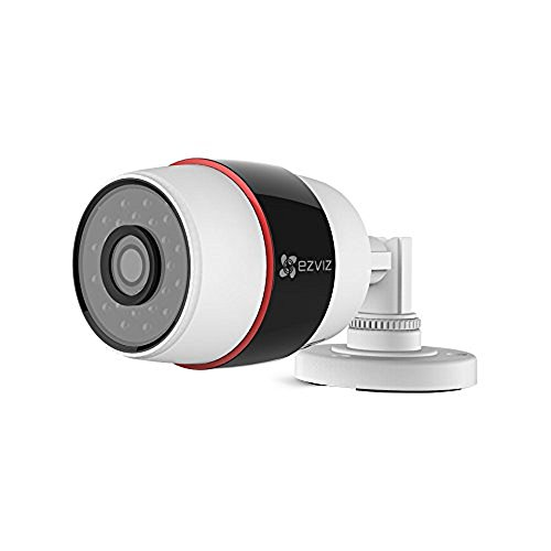 Ezviz CS-CV210-A0-52WFR C3S Videocamera Internet per Esterno 1080P WiFi, Bianco, Focale 4mm