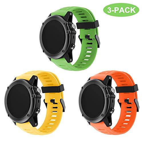 TOPsic Garmin Fenix 3 / Fenix 5x Bracciale, Morbido Cinturino di ricambio in Silicone per Garmin Fenix 3 / Fenix 3 HR GPS / Fenix 5x Smart Watch (NON per Fenix 5)