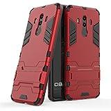 Huawei Mate 10 Pro Funda, YHcase [Armor Series] Combinación A Prueba de Choques Heavy Duty Escudo Cáscara Dura PC + Suave TPU Silicona Rubber Case Cover con soporte para Huawei Mate 10 Pro (Red)