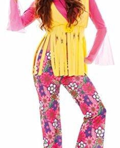 Fyasa Disfraz de Hippie Rosa para Mujer