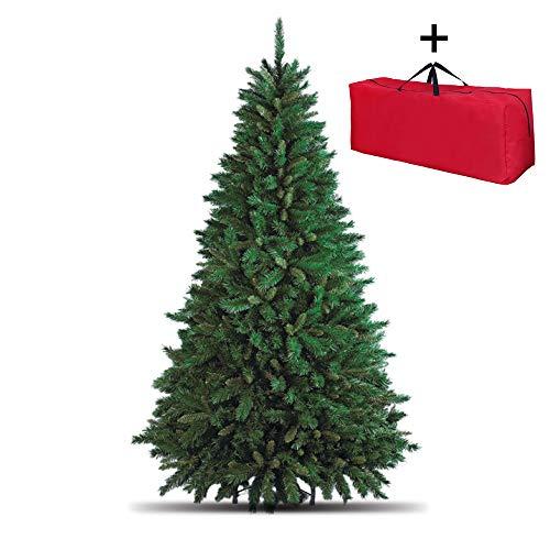 Totò Piccinni Albero di Natale artificiale, 300 cm (3015 rami) + Borsone, FOLTO di ALTISSIMA QUALITA', Effetto Realistico, Rami a Gancio, Facile Montaggio, PVC, Base Metallica, Ignifugo