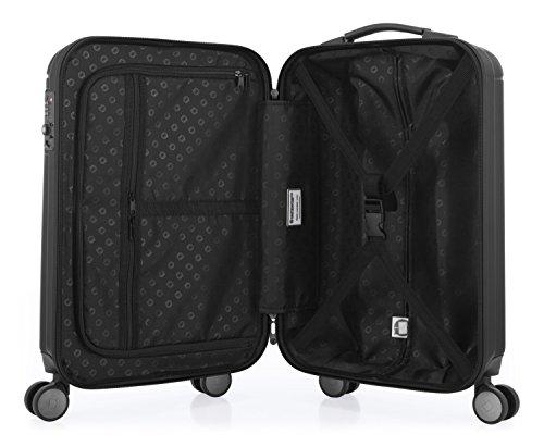 HAUPTSTADTKOFFER - Kotti - 2er Koffer-Set Trolley-Set Rollkoffer Reisekoffer, TSA, (S & L), Schwarz matt - 3