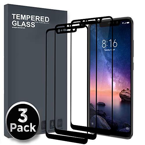 Ferilinso [3 Pack Cristal Templado para Xiaomi Redmi Note 6 Pro, [Cubierta Completa] Protector de Pantalla Screen Protector con (Negro)