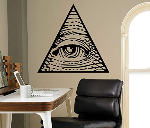 All Seeing Eye Pyramid Wall Decalcomania del vinile Illuminati Sigh Sticker Decor Living Room...