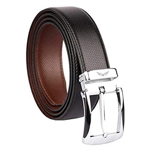 Axe Style ARTIFICIAL PU Leather Boy's Casual & Formal Reversible Belt Black/Brown (Size 28-44 Cut to fit men's Belt)
