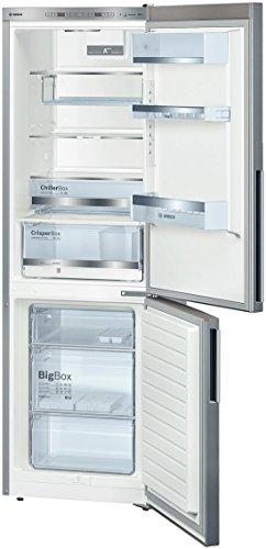 Bosch KGE36BL41 Libera installazione 302L A+++ Acciaio inossidabile frigorifero con congelatore