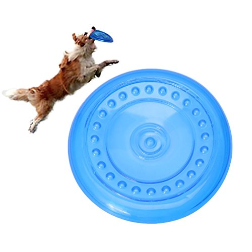Mentin S M L TPR Suave Redondo Frisbee platillo Volador Chew Perro Juguetes de Mascotas de Emergencia Cuenco interactiva