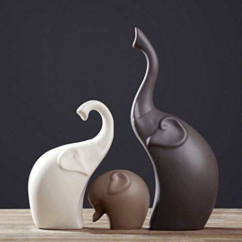 Ceramica Elefante Astratto Arte Decorazione Armadietto del Vino Ornamento al Coperto Soggiorno...