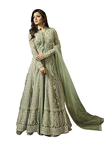 029c4c127e7 MONIKA SILK MILL Women s Net Embroidered Anarkali Salwar Suit Dress  Materials (MSMLT1706 N