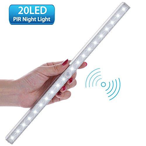 LOFTer Luce Wireless a 20 LED con Sensore, Alimentata a Batterie (non incluse), 3 Modalit¨¤, Luce Notte per Armadio,Comodino,Corridoio (incluse 4 viti)