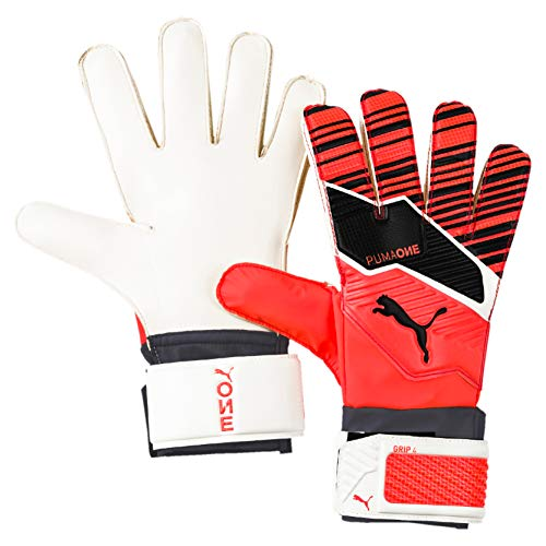 PUMA One Grip 4, Guanti Portiere Unisex Adulto, Nrgy Red Black White, 5