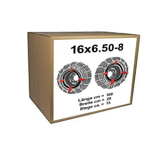 Cadenas de nieve + Tensor para tráctor Segadora, 16x 6.50–816x 6.50–8y 165/60–8170/60–8