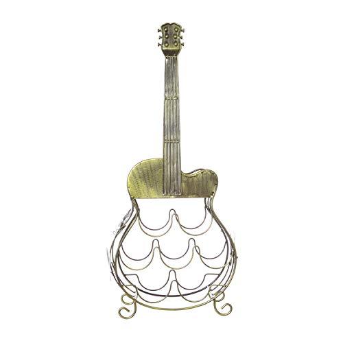 Cantinetta a forma di chitarra in metallo, da 35,5x80x18,5 cm
