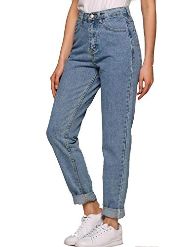 Teaio Hose - Damen Jeans Boyfriend High Waist Jeanshose Locker Lang...