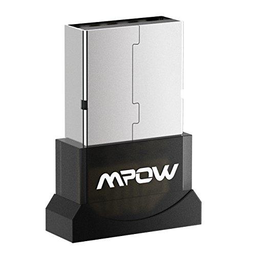 Mpow Bluetooth Transmitter/Empfänger, 2-in-1 Wireless USB Bluetooth Transmitter/Empfänger, USB Wireless Bluetooth 4.0 Adapter für PC Desktop Computer mit Windows 10, 8.1, 8, 7, Vista, XP 32/64 Bit