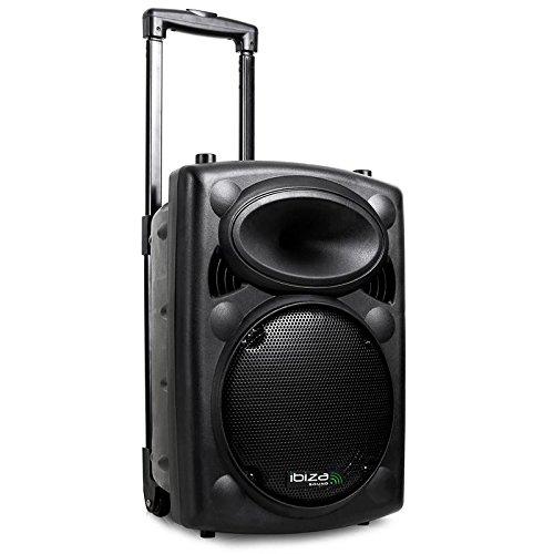 """Ibiza PORT10VHF-BT - Sistema de sonido portátil y autónomo de 10"""", 250 W, color negro"""