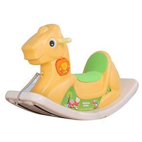 LIULAOHAN Caballo de oscilación del bebé, Caballo Mecedora de plástico para niños de Juguete Edad pequeño Caballo de…