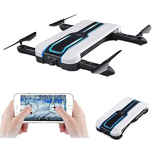 Ydq Mini Drone, Pieghevole FPV Droni Tascabile con Telecamera HD 720P/FPV WiFi/Attesa di Altitudine/modalità Senza Testa/modalità Alta E Bassa velocità/modalità G-Sensor RC Drone