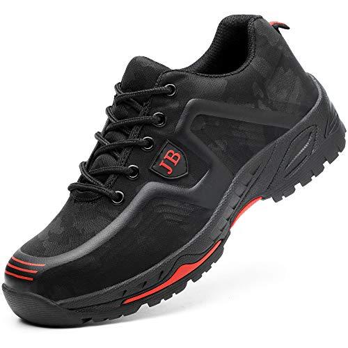 Scarpe da Cantiere Donna Uomo Leggere Sneaker da Lavoro Antinfortunistiche con Punta in Acciaio...