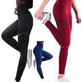 FITTOO Pantalones Deportivos Leggings Mujer Yoga de Alta Cintura Elásticos y Transpirables para...