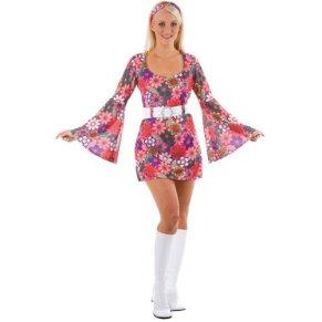 60s - Disfraz de hippie años mujer, talla L (EF-2060. L)