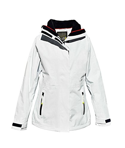 crazy4sailing Damen Segeljacke Brisbane Funktionsjacke Regenjacke, Größe:XXL, Farbe:White