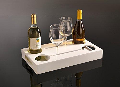 Cantinetta Vassoio porta bottiglie e bicchieri il legno laccato