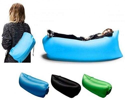 R_V Enterprise Camping Lounger Sofa Inflatable Sleeping Bag Beach Hangout Lazy Air Bed