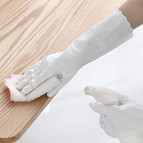 Guanti in lattice impermeabili per uso domestico cucina lavastoviglie lavaggio bucato pulizia...