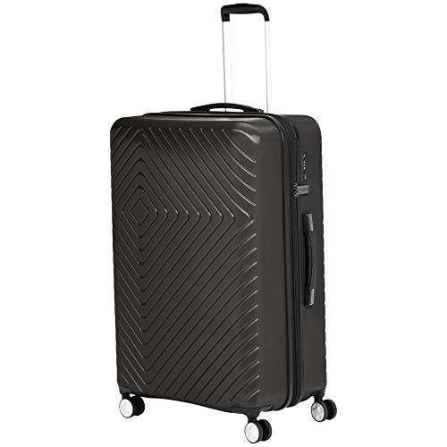 AmazonBasics - Trolley con motivo geometrico, 78 cm, Nero