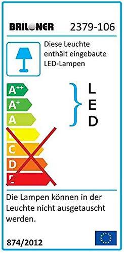 Briloner Leuchten - LED Unterbauleuchte, 10 W, 1.100 Lumen, 87.3 cm, blendfrei, helle Unterbaulampe mit An/Aus-Schalter, 1m Zuleitung mit Stecker, inkl. Montagezubehör, weiß