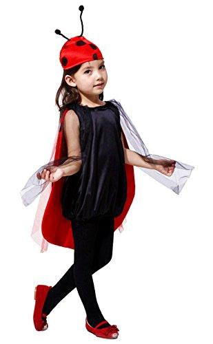Inception Pro Infinite Disfraz - Niña - Mariquita - Ladybug - Disfraces - Halloween - Carnaval - Cosplay (Talla S 95-110 CM)