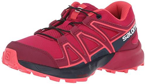 Salomon Kinder SPEEDCROSS J, Trailrunning-Schuhe, Rot (Cerise/Navy Blazer/Dubarry), Größe 31