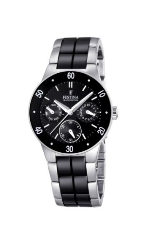 Festina Damen Chronograph Quarz Uhr mit Keramik Armband F16530/2