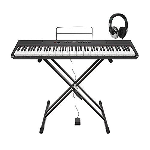 Piano de Escenario SDP-2 con soporte, pedal y auriculares