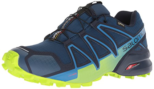 Salomon Speedcross 4 GTX, Zapatillas de Running para Hombre, Azul (Poseidon/Navy Blazer/Lime Green), 46 2/3 EU