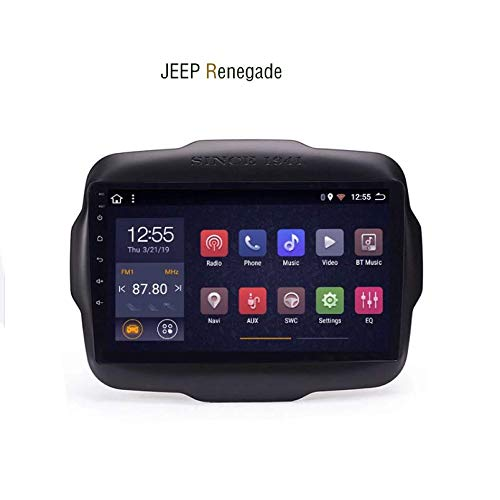 Hahaiyu 9 Pollici in Dash Car Stereo Android 7.1 MP5 Player per Jeep Renegade (2016-2018), GPS Stereo 2.5D Curvo Edge Touch Screen, WiFi, Bluetooth, retromarcia