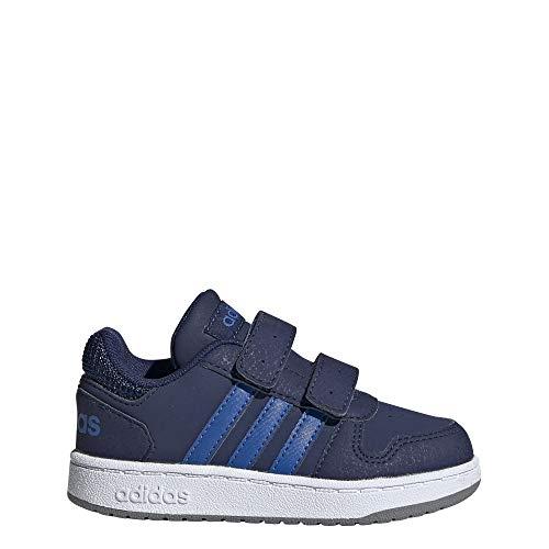 adidas Hoops 2.0 Cmf I I, Pantofole Unisex-Bimbi, Multicolore (Azuosc/Azul/Gritre 000), 25 EU
