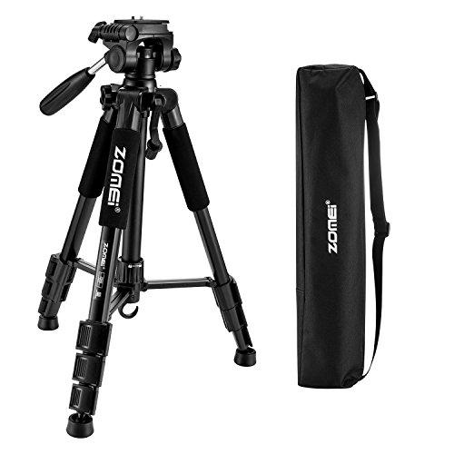 ZOMEi Z666 Trípode Viaje Ligero Para Cámaras Reflex Canon Nikon Sony Fuji